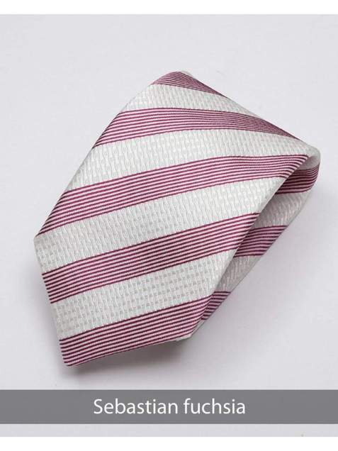 Heirloom Sebastian Mens Fuchsia Stripped Tie - Accessories