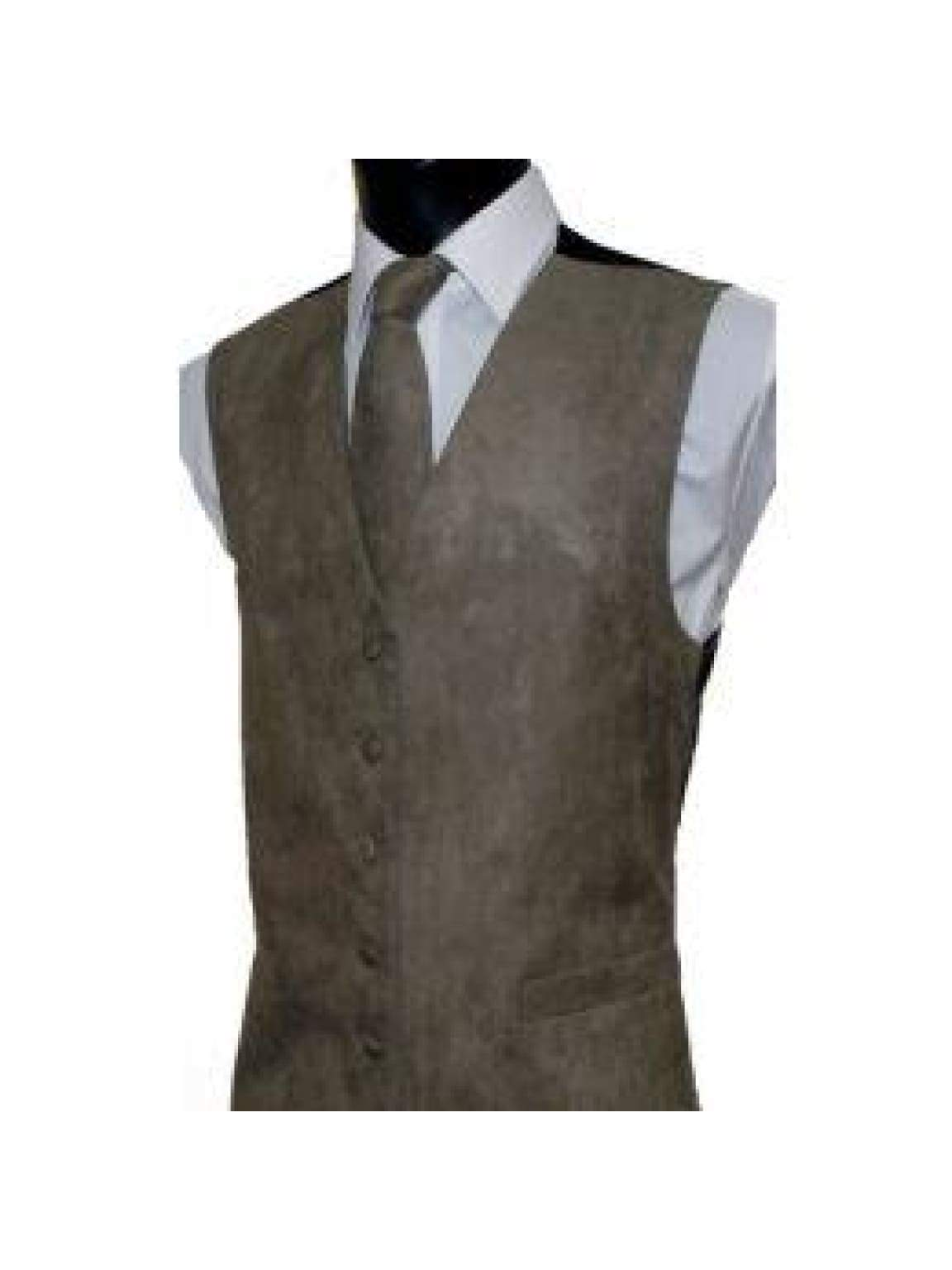 L A Smith Tuape Suede Look Waistcoat - S - Suit & Tailoring