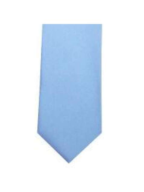 LA Smith Baby Blue Skinny Weft Satin Tie - Accessories
