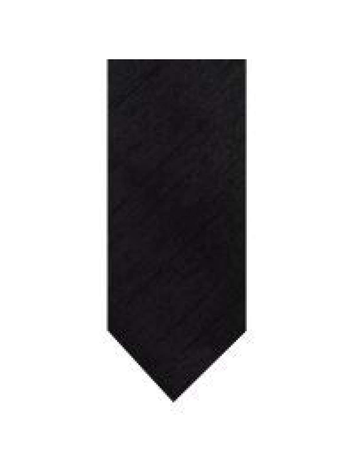 LA Smith Black Skinny Shantung Tie - Accessories