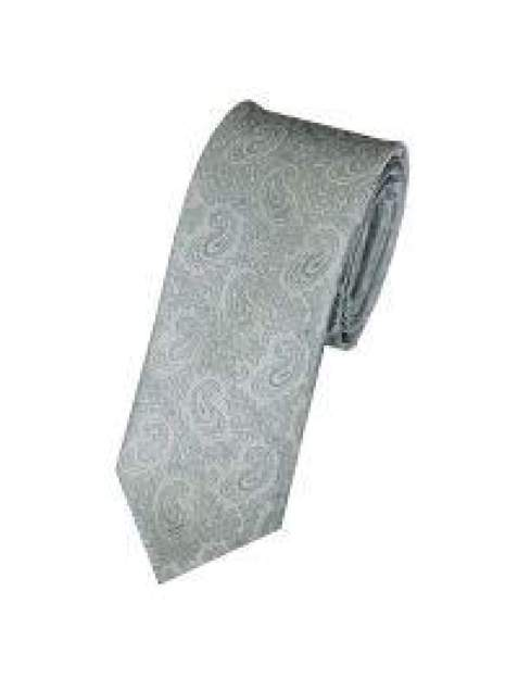 LA Smith Green Skinny Paisley Tie - Accessories