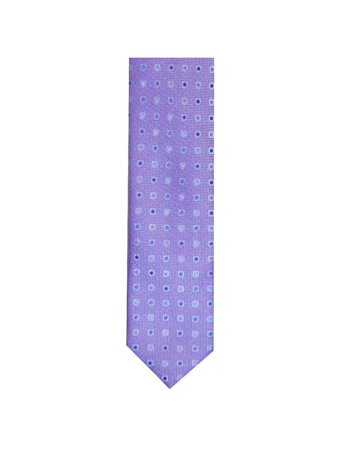 LA Smith Lilac Skinny Polka Dot Tie - Accessories