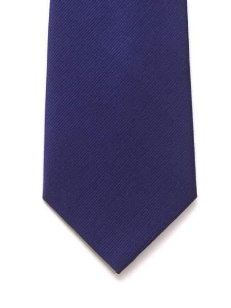 LA Smith Navy Plain Silk Tie - Accessories