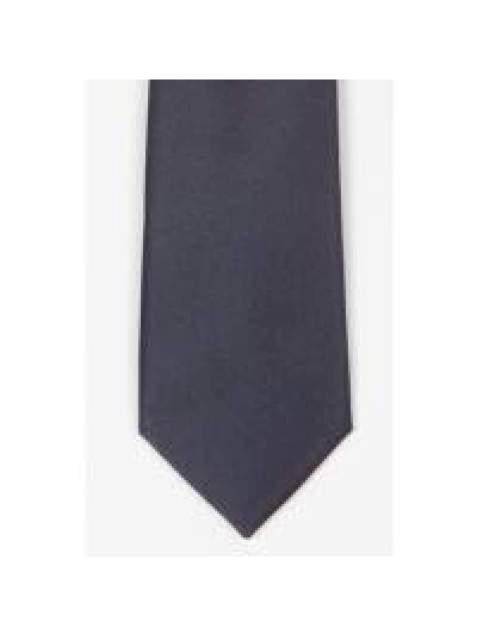 LA Smith Navy Skinny Satin Tie - Accessories