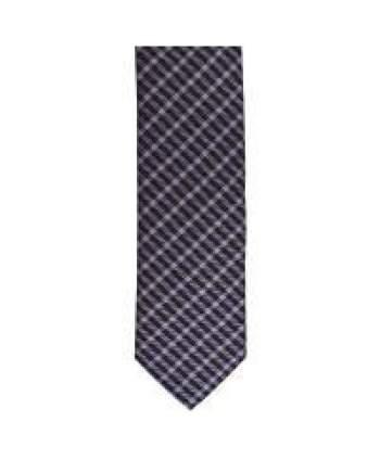 LA Smith Purple Skinny Tartan Tie - Accessories
