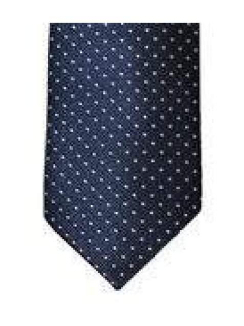 Mens Cavani Navy White Polka Dot Tie Pocket Square & Tie Pin Set - Accessories