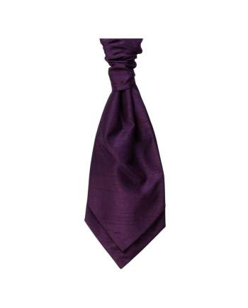 Mens LA Smith PURPLE Wedding Cravat - Adult Self Tie Cravat - Accessories