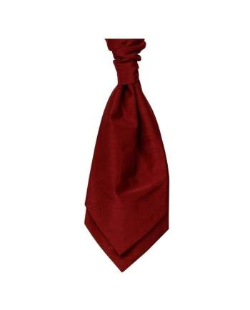 Mens LA Smith Wedding Self Tie Cravats - Red - Accessories