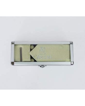 Yellow Diamond Tie Hank Tie Pin Cufflinks Set - Accessories