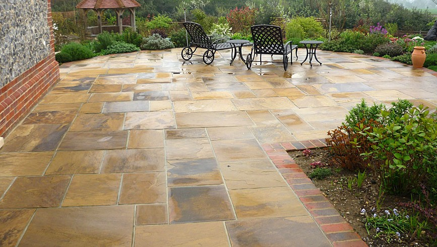 How to build a stone patio on your own | HireRush Blog on Rock Patio Designs  id=46371