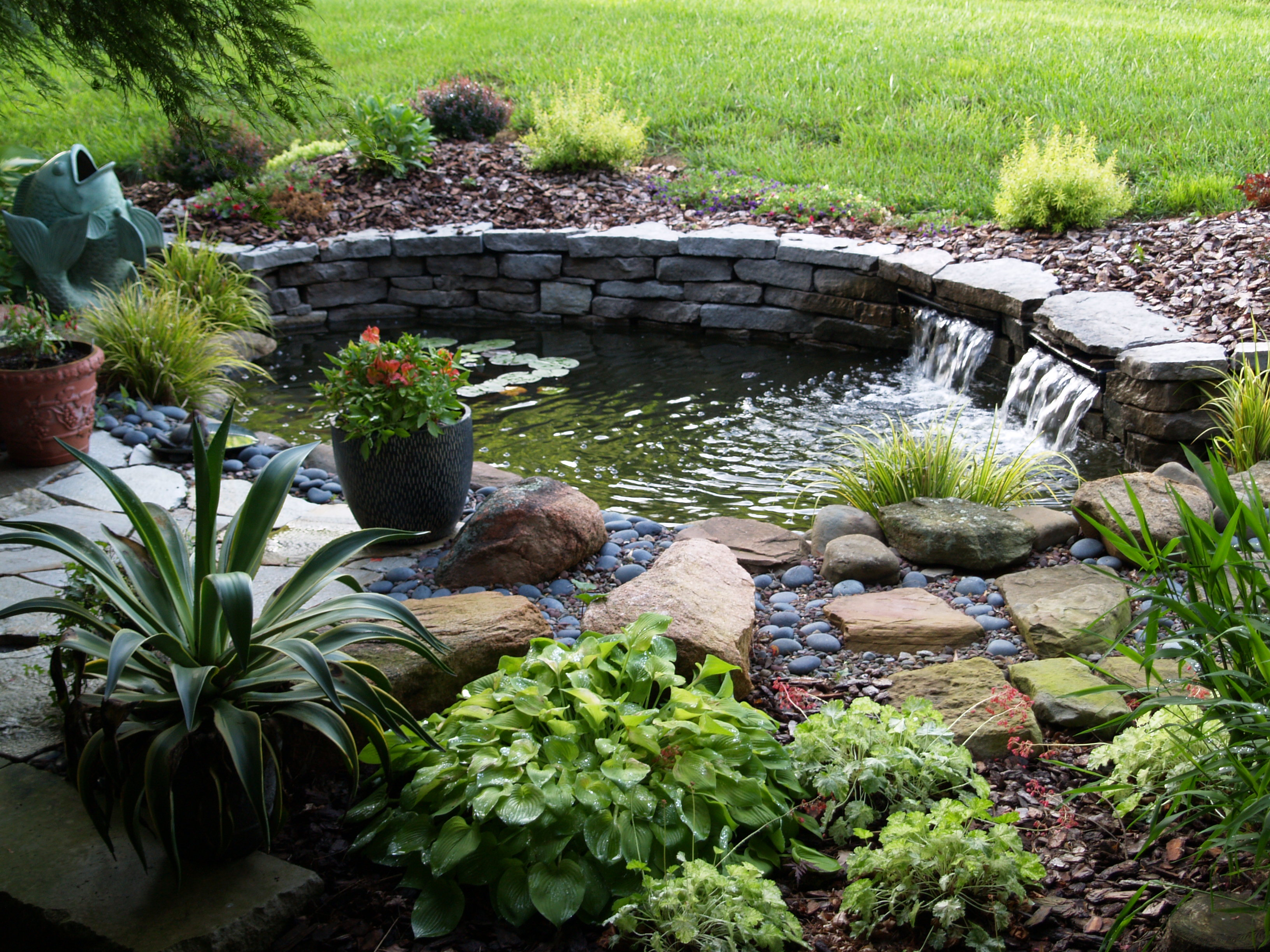 How to build a pond in your garden | HireRush Blog on Small Backyard Pond  id=87332