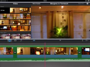 iMovie App - Videobearbeitung