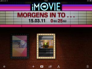 iMovie Startscreen