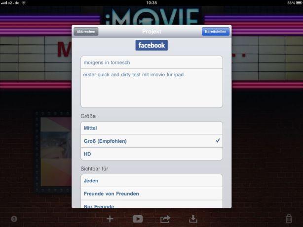 iMovie App - Facebook