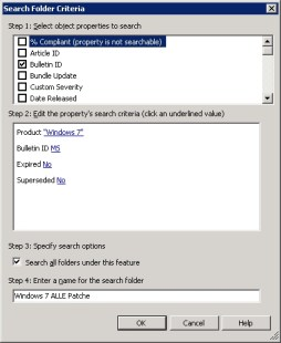 Search Folder Criteria