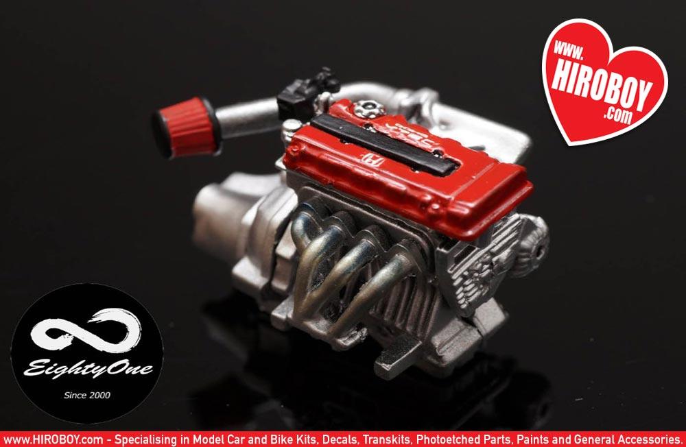 1 24 Honda B16 Engine Kit F81 Ek003 Eightyone Factory 81
