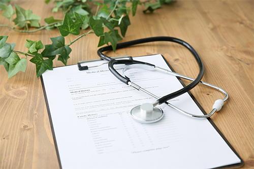 年に一回の健康診断