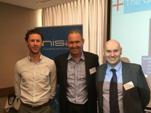Left to right. Pete Lomas Getz Clinical, Stephen Fitzgerald CIO Getz Clinical, Dr John Ellingham FANZCA in Perth.