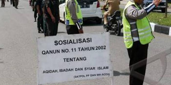 Di Aceh, Polwan dan WH Razia Pria yang tidak Shalat Jumat
