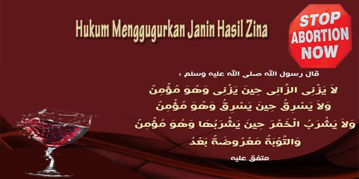 Hukum Menggugurkan Janin Hasil Zina