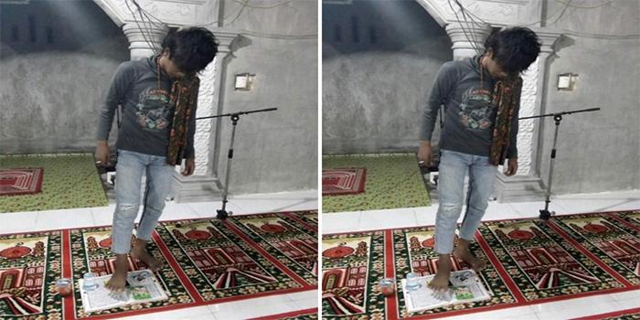 Ramadhan, Pemuda Ini Pamer Foto Injak Al Quran