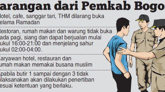 Selama Ramadan Pemkab Bogor Siapkan Satgas Patroli THM, Wajib Kenakan Busana Muslim