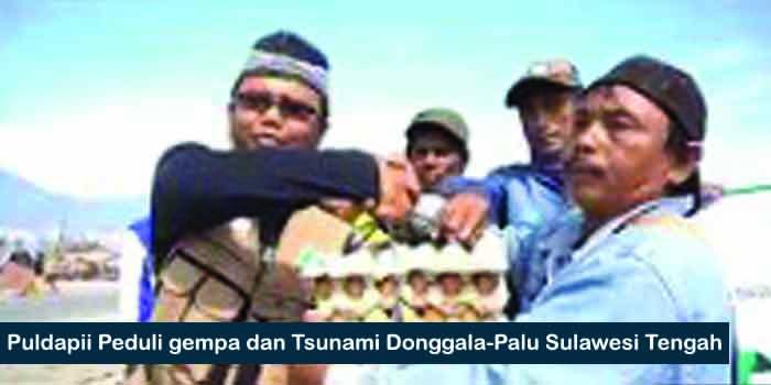 Puldapii Peduli gempa dan Tsunami Donggala-Palu Sulawesi Tengah