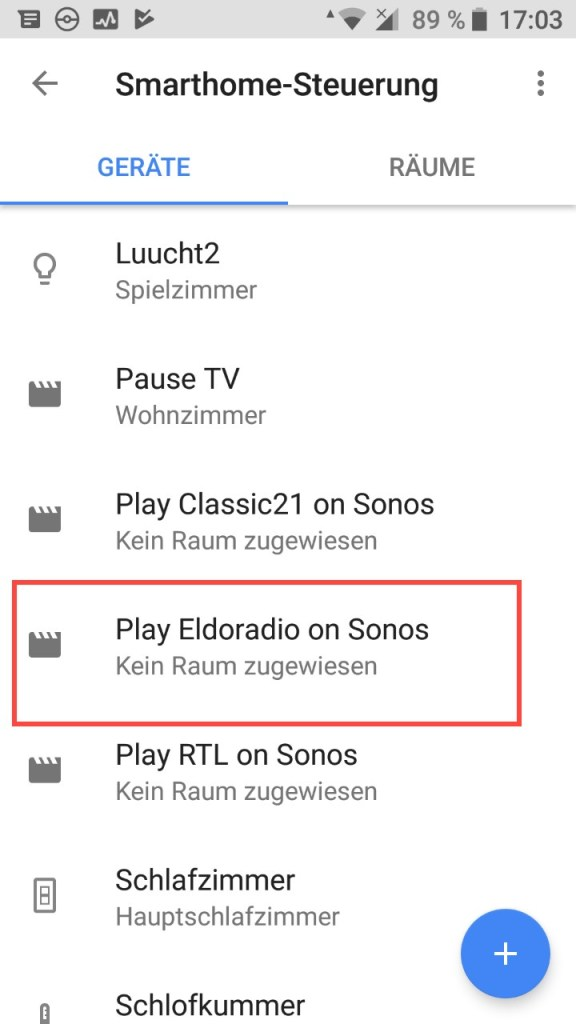 Google Assistant (Android) - Smarthome Stéierung