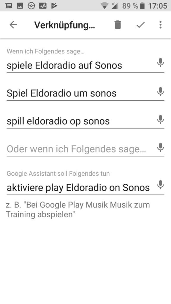 Google Assistant (Android) - Personaliséiert Sätz définéieren