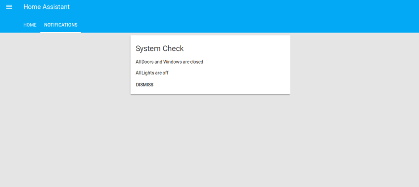 Home-Assistant System Check Message