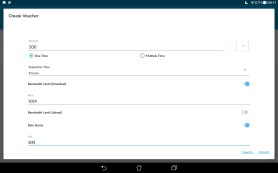 Mobile App - Create Vouchers