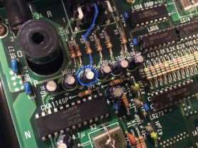 "Faulty Cap for the ""Blue Signal"" (Pin 8 on the AV Connector)"