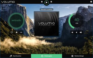 Volumio am WebBrowser