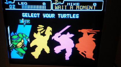 TMNT IV - Turtles in Time - Character Selection - RGB