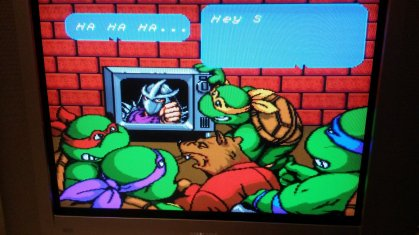 TMNT IV - Turtles in Time - Story Intro - RGB