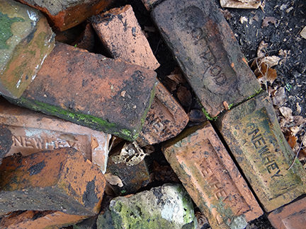 vintage bricks on our allotment