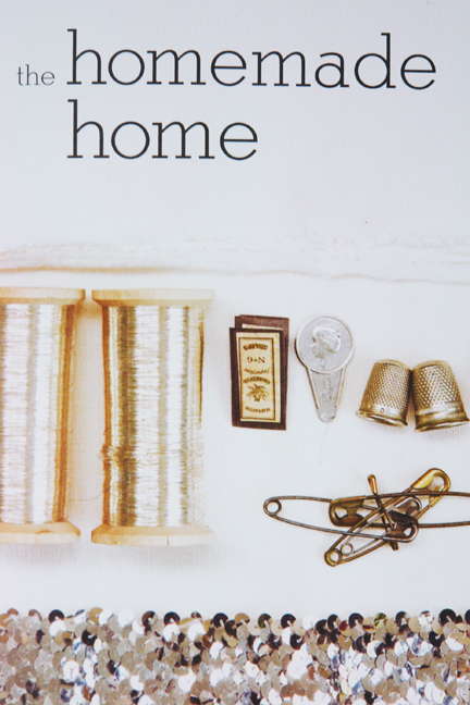 page from Homemade Home book showing sewing paraphernalia