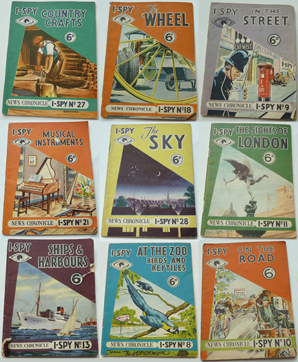 set of 9 I-Spy News Chronicle books being sold on eBay for Charity by the Hospice of St Francis