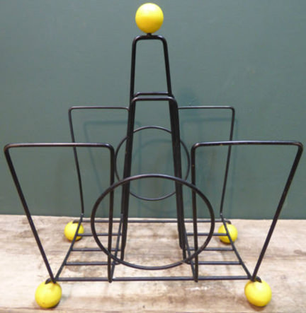 vintage atomic magazine rack being sold by & in support of Isabel Hospice