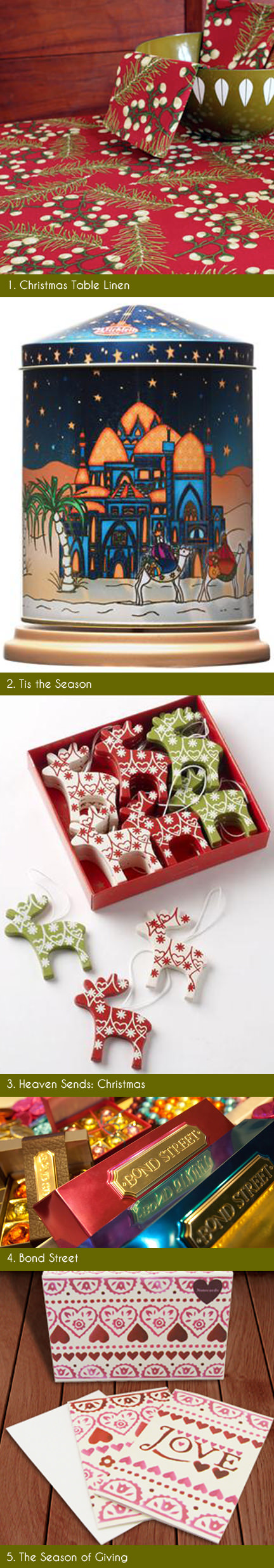 selection of festive Christmas items available on the Achica website