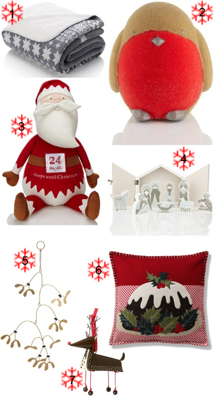 Selection of Christmas items at Marks and Spencer