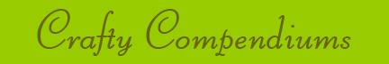 """Crafty Compendiums"" blog post banner"