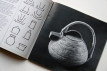 page from a vintage craft booklet showing handmade teapot