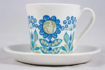 vintage Figgjo Flint 'Turi' cup and saucer
