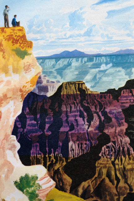 "page from the vintage 1959 Ladybird book, ""Flight three, U.S.A. - A Ladybird Book of Travel Adventure"" showing the Grand Canyon"