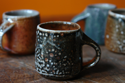 hand thrown espresso mugs by Devon-based potter Lisa Hammond
