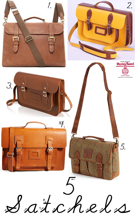 selection of 5 satchels