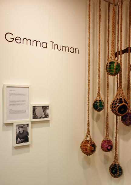 Gemma Truman's seagrass & glass works inspired by weaverbirds' nests