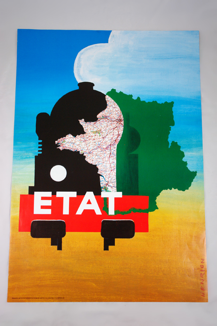 FHK Henrion 'Etat' poster from a collection bought at auction by H is for Home