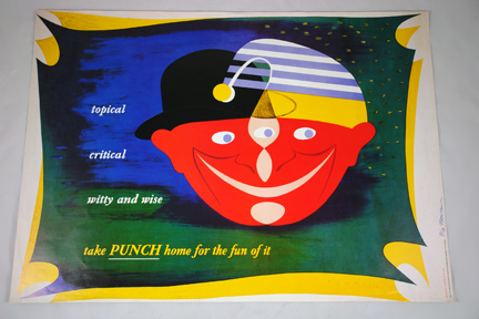 FHK Henrion Punch magazine poster from a collection bought at auction by H is for Home